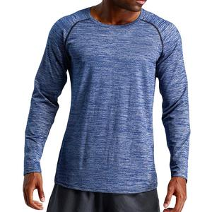 Rainbowroom 2019 Mens Autumn Winter Long Sleeved Sports Fitness Loose Elastic Fast Dry Blouse Top