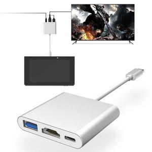 Amazing  Type C Adapter Charging Adapter Durable USB 3.0 HDMI Game Console Charging for Nintendo Switch