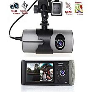 Wishhubpk Car Dvr Camera Video Recorder Dash Cam G-Sensor Gps Dual Lens