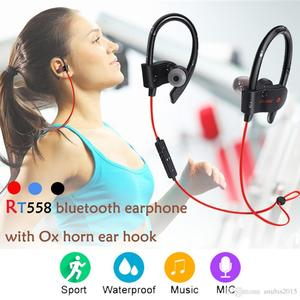 RT558 Bluetooth Headphones Ear Hook Wireless Bluetooth Headsets Noise Cancelling Sweatproof Sport Earphones