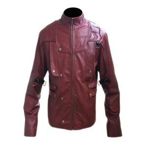 Mens Red Leather Jacket High Quality