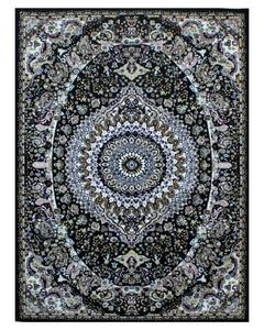 Silky Traditional Rug - Synthetic - 4X6 - Black