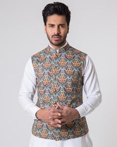 Bonanza Satrangi - Multicolour Cambric Men's Waist Coat-50781 - 50781-XL