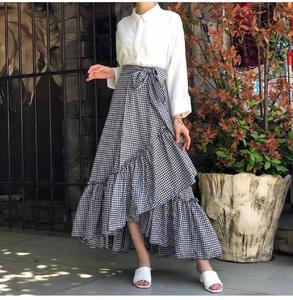 check stylish ruffle skirt with white shirt for girls