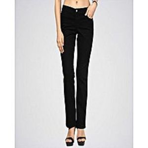 A&F Collections Black Straight Jeans For Women - A&F-Abr08