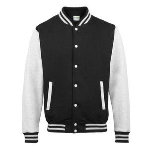 Baseball Varsity Jacket Black And White
