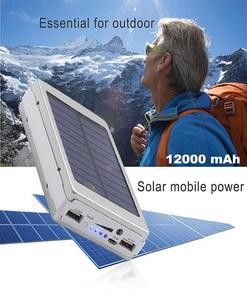 Smart Solar Power Bank 12,000 mAh