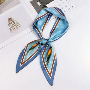 MissFortune Women's Satin Silk Feels Formal Square Neck Scarf Hair Wrapped Mother's Day Gift
