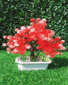 Red Tree Artificial Decoration Piece