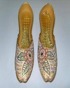 Golden Fashionable Khussa For Women
