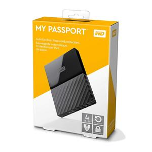 WD 1TB Black My Passport  Portable External Hard Drive - USB 3.0 - WDBYFT0040BBK-WESN