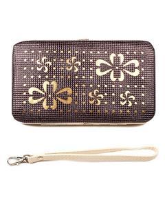 Purple PU Leather Clutch Wallet - IBW013