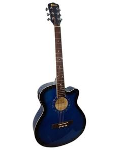 "40"" Semi Acoustic Guitar with Built in Tuner & 5 Band Equalizer - Blue Burst"