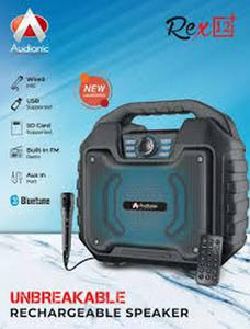 Audionic - REX 12 Plus - Rechargeable Portable Wireless Speaker - With Wired Mic