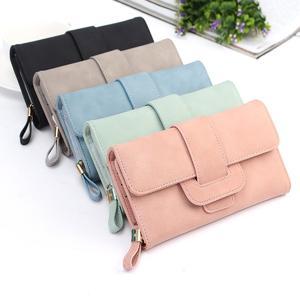 Fashion Lady Soft Matte Leather Long Wallet Card Holder Purse Handbag Gift -US