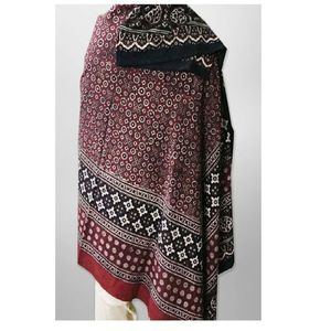 Multicolor Cotton Polyester Printed Sindhi Ajrak