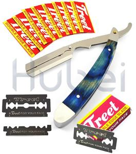 Blue Heavy Steel Hair Shaving Razor With Free Blades