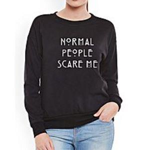 SA BazaarWomen Black NSPM Sweat Shirts