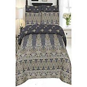 Ch.collectionMulticolor Cotton King Size Bedsheet - 3 Pcs