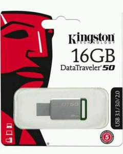 Kingston 16Gb Usb 3.0 Dt50, 30Mb/S Read, 5Mb/S Write Drive