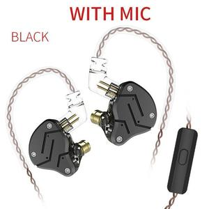 1DD+1BA Armature Dual Driver Earphone Detachable In Ear Audio Monitors Noise Isolating HiFi Music Sports Earbuds Style:With mic