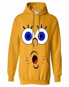 Yellow Spongue Bob Printed Hoodie For Her