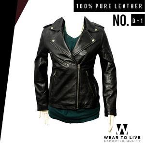 Women Black Grace Biker Jacket