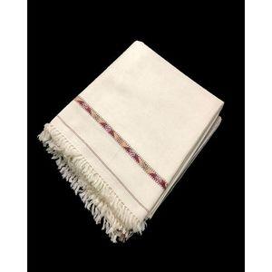 White Color Kashmiri Dhussa Shawl Pashmina wool