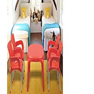 BossPack of 4 - Red Plastic Res Relaxo Chairs