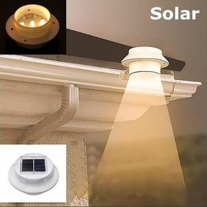 Solar Powered 3LED Light Garden Fence Yard Wall Gutter Pathway Lamp IP45