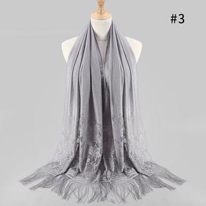 Women's Fashion Fringed Printed Cotton Parisian  Shawl Soft Beach Towel  Scarf