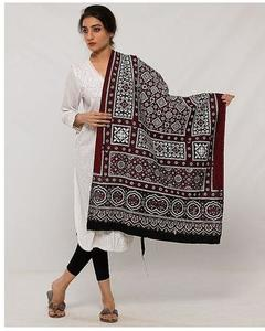 Multicolor Cotton Sindhi Ajrak for Women