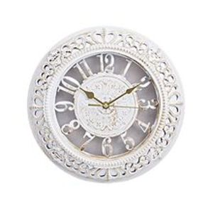 "Asaan Buy Gold Shaded Antique Wall Clock - 12X12"" - White"