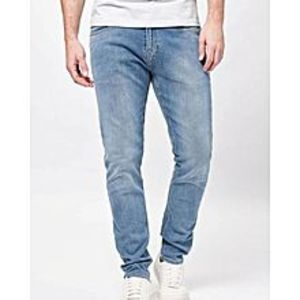 diKHAWA Sky Blue Denim Fit Jeans for Men