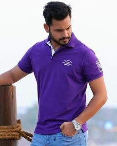 Purple Polo Mens T-shirt