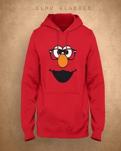 Elmo Face Printed Hoodie For Women