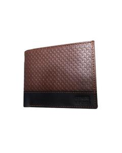 Brown Cow Leather Black Strap Wallet