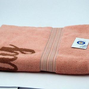 Alkaram Towel 1 - Terry Jacquard Bath Sheet  Peach