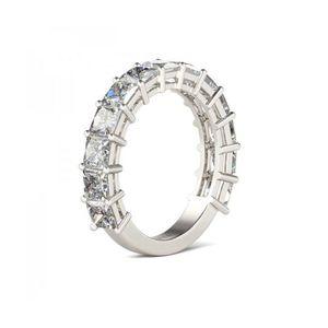 Jeulia Bar Setting Princess Cut Created White Sapphire Womens Ring