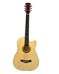 Acoustic Guitar Medium Size With Metal Tuning Keys & Truss Rod - Brown