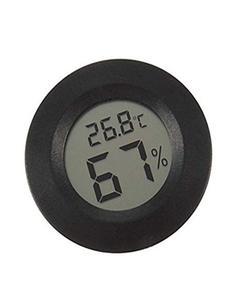 Mini Digital Lcd Thermometer Hygrometer Round Shape Temperature Humidity Meter