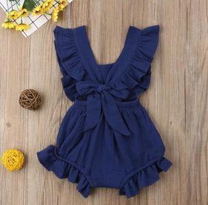 Multicolor Newborn Baby Girls Ruffle One-Pieces Romper Bodysuit Jumpsuit Outfits Sunsuit