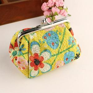 FashionieStore Woman's wallet Bag Women Lady Retro Vintage Flower Small Wallet Hasp Purse Clutch Bag BU