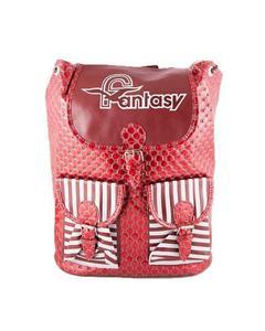 Fashionable 2 Pockets Backpack School Bag Notebook Bag Laptop Bag Travel Bag for School and College - Red