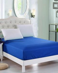 Blue Jersey Fitted100% Cotton Bed Sheet - Single Bed