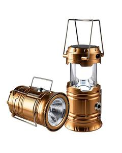 Solar Led Flashlight Camping Lights - Rechargeable Lantern-
