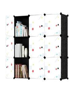 Diy 9 Cubes Elegant Black Stripes Storage Cabinet