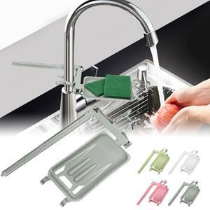 Water Tap Soap Dish Shelf Plate Tray Rack Holder Kitchen Bathroom Shower Rail