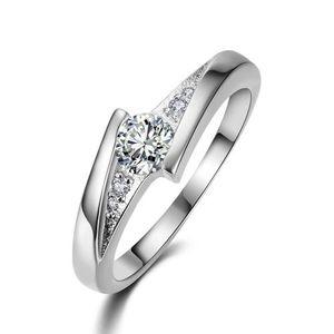 Classical Cubic Zirconia Fashion Ring Size No 7