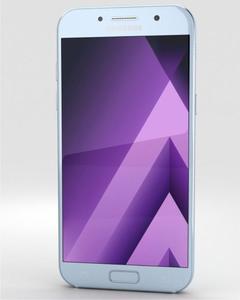 """Galaxy A5 2017 - 5.2"""" - 3GB RAM - 32GB ROM - 16MP/16MP Camera-A5-2017-Blue Mist"""